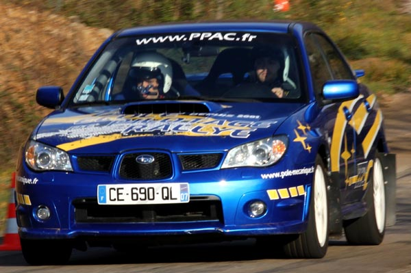 Activité de pilotage rallye