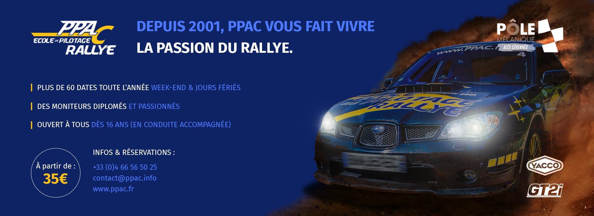 PPAC : Pilotage Rallye à Alès, site officiel